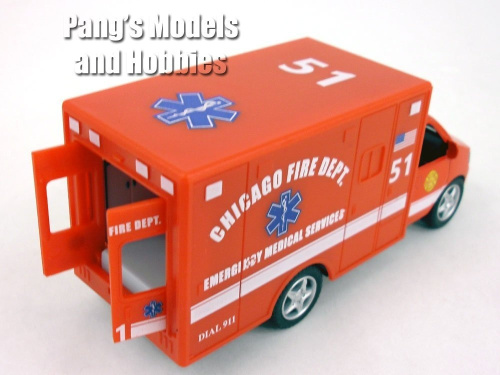 13cm-Chicago-RED-Ambulance-Model-KinsFun-Shipping-is-Free thumbnail 5