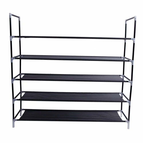 Akoyovwerve-Stackable-Shoe-Rack-Bench-Shoe-Organiser-Shelf-Black thumbnail 1