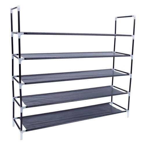 Akoyovwerve-Stackable-Shoe-Rack-Bench-Shoe-Organiser-Shelf-Black thumbnail 2