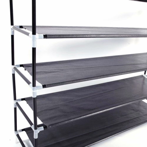 Akoyovwerve-Stackable-Shoe-Rack-Bench-Shoe-Organiser-Shelf-Black thumbnail 7