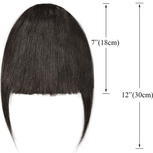 S-noilite-Clips-in-Hair-Bangs-Fringe-Hair-Extensions-Clip-On-Bang-Topper-3D thumbnail 2