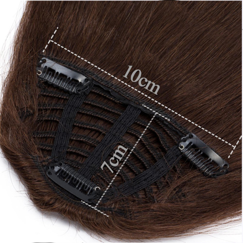 S-noilite-Clips-in-Hair-Bangs-Fringe-Hair-Extensions-Clip-On-Bang-Topper-3D thumbnail 4